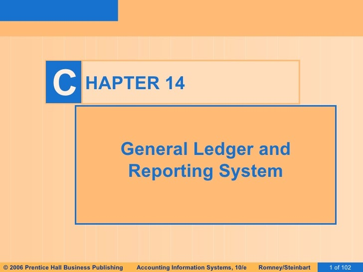 HAPTER 14 General Ledger and Reporting System