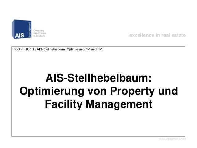 excellence in real estateToolnr.: TC5.1 / AIS-Stellhebelbaum Optimierung PM und FM         AIS-Stellhebelbaum: Optimierung...
