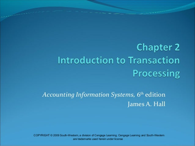 Introduction To Transaction Processing Chapter No 2