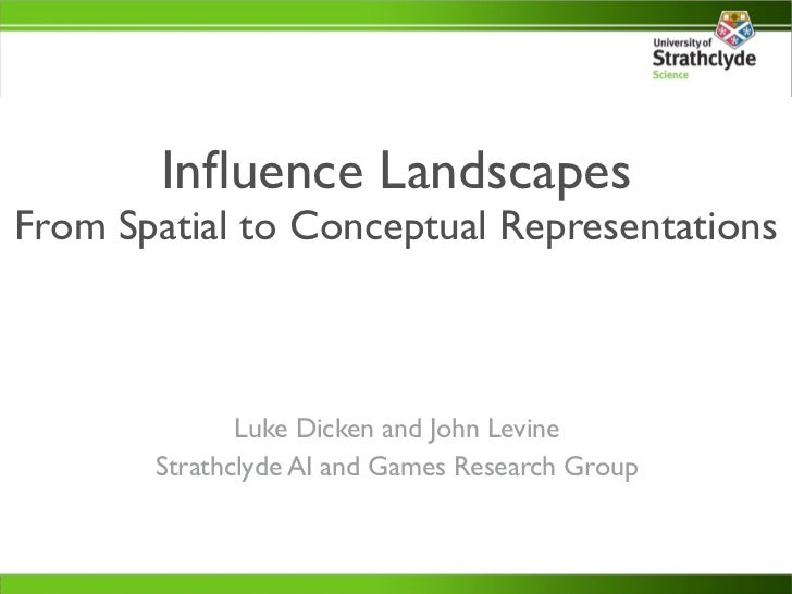 Influence LandscapesFrom Spatial to Conceptual Representations              Luke Dicken and John Levine       Strathclyde A...
