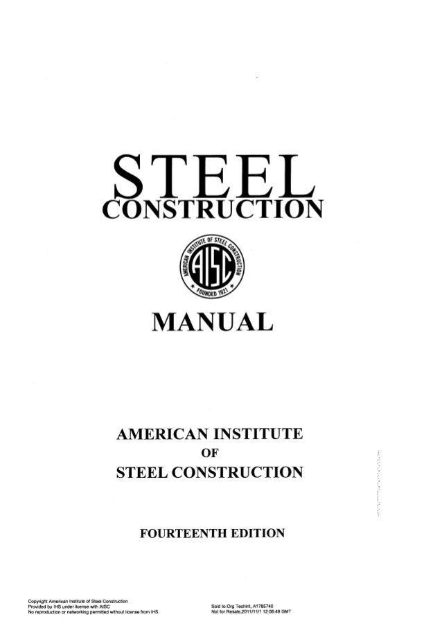 aisc steel construction manual 14th rh slideshare net 14th edition steel construction manual 13th edition aisc steel construction manual