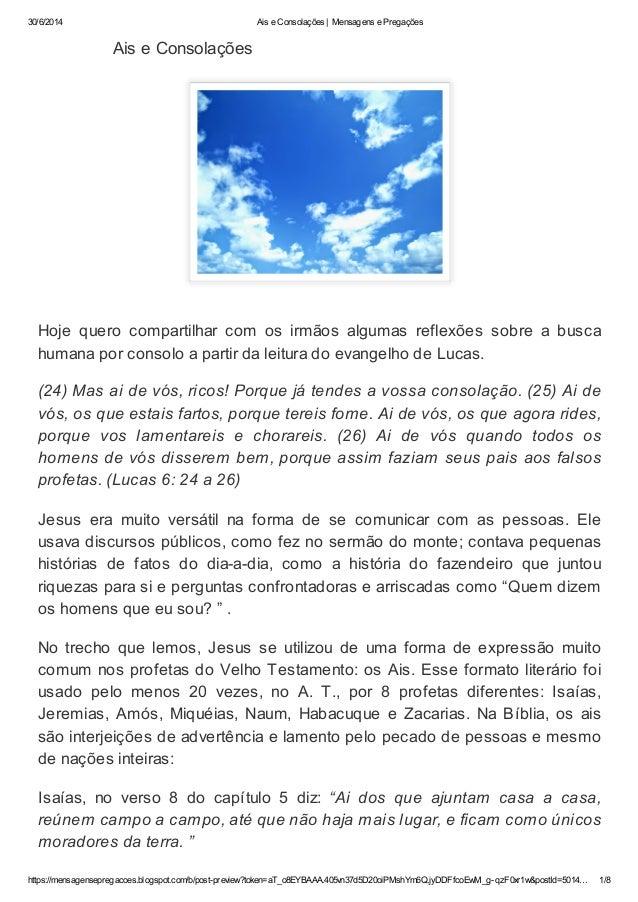 30/6/2014 Ais e Consolações | Mensagens e Pregações https://mensagensepregacoes.blogspot.com/b/post-preview?token=aT_o8EYB...