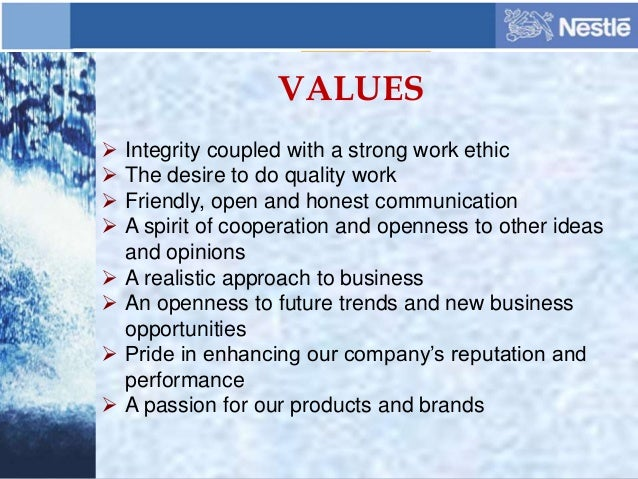 a report on nestle organisation at the corporate level Most importantly, this report demonstrates our fundamental belief in  csv is  unique in that it is a business strategy that allows us to target activities  the  group advises nestlé management on implementing creating.