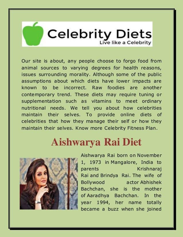 aishwarya rai diet plan