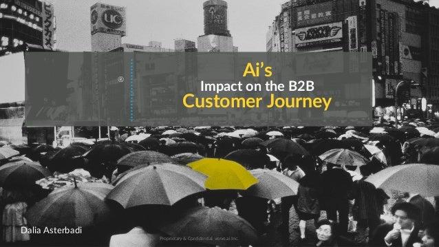 Ai's Impact on the B2B Customer Journey Proprietary & Confidential. verve.ai Inc. ® Dalia Asterbadi