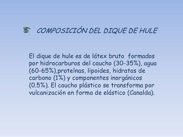 PRESENTACIONES DEL DIQUE DE HULE  Cuadro de dique de hule listo para usarse