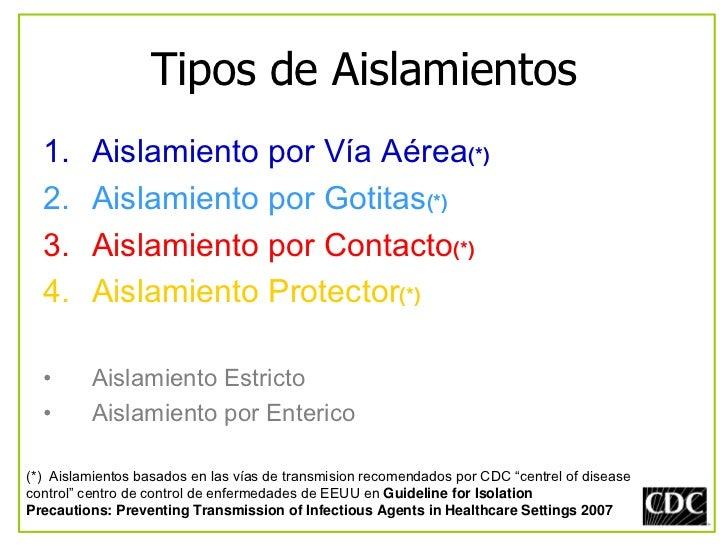 Clase 3 aislamiento de pacientes for Aislamiento tejados tipos