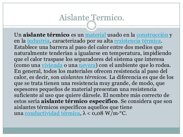 Aislantes termicos - Comparativa aislantes termicos ...
