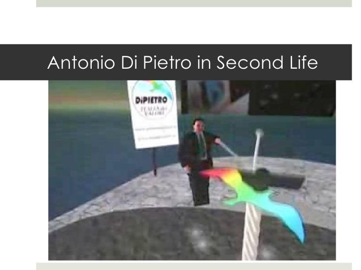 Antonio Di Pietro in Second Life