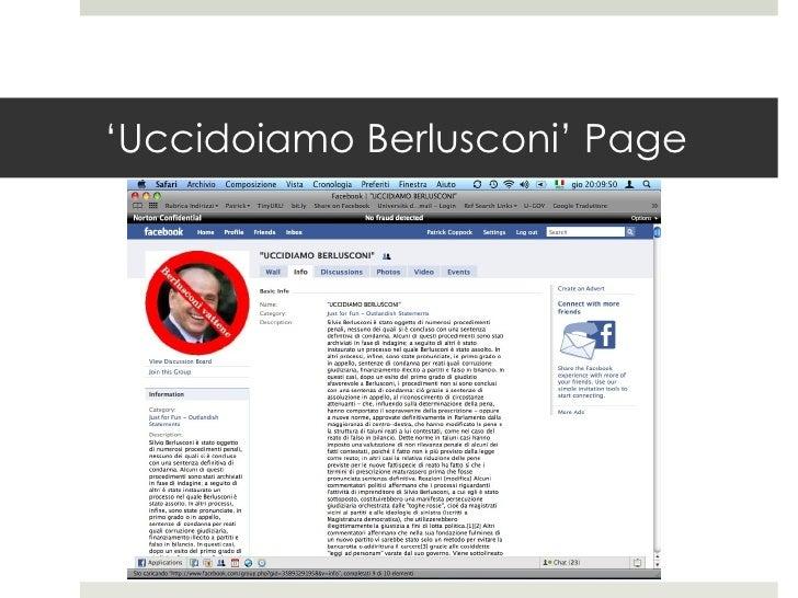 ' Uccidoiamo Berlusconi' Page