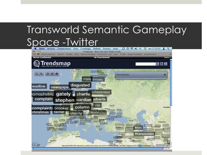Transworld Semantic Gameplay Space -Twitter