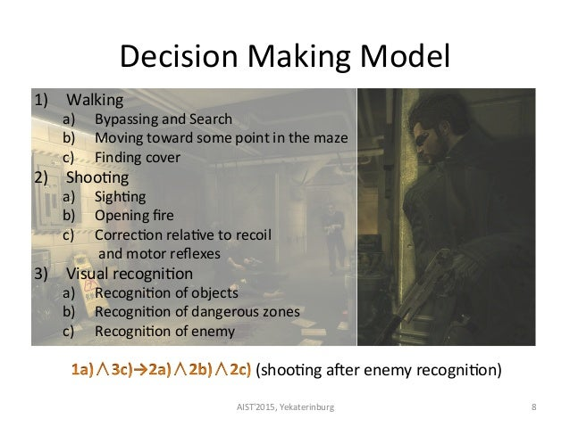 Decision  Making  Model   1) Walking   a) Bypassing  and  Search   b) Moving  toward  some  point ...
