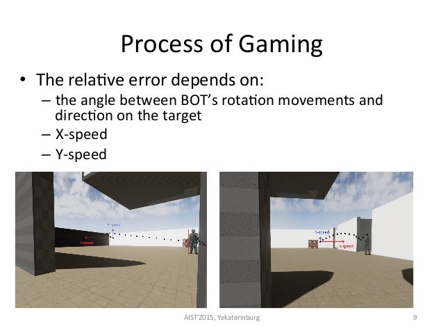 Process  of  Gaming     • The  rela<ve  error  depends  on:   – the  angle  between  BOT's  ro...