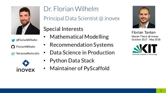 Special Interests • Mathematical Modelling • Recommendation Systems • Data Science in Production • Python Data Stack • Mai...