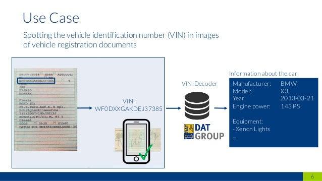 6 Use Case VIN: WF0DXXGAKDEJ37385 VIN-Decoder Manufacturer: BMW Model: X3 Year: 2013-03-21 Engine power: 143 PS Equipment:...
