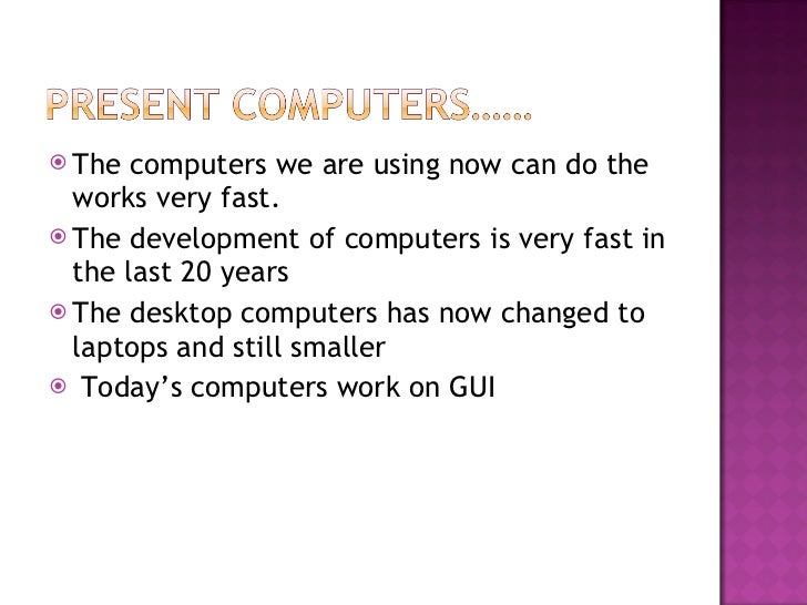 computers from the past to present