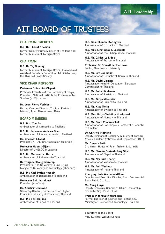 AIT annual report 2011