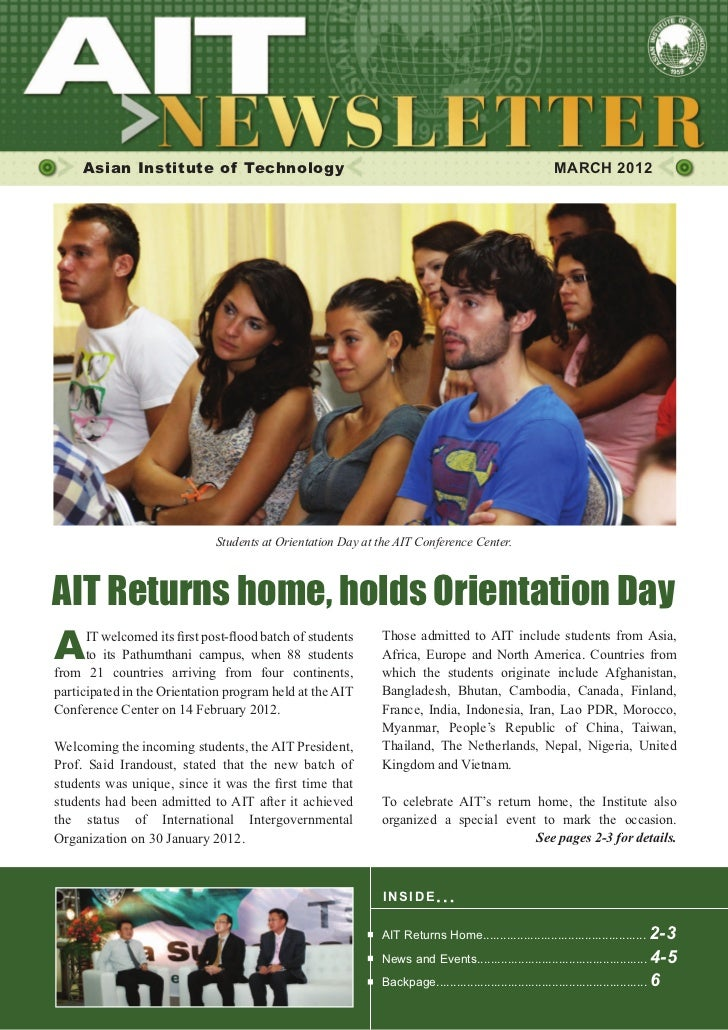 Asian Institute of Technology                                                                       MARCH 2012            ...