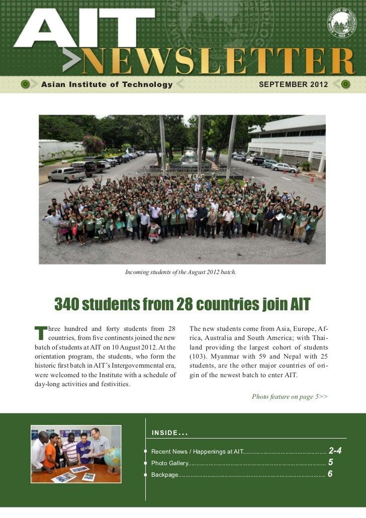 1  Asian Institute of Technology                                                                     SEPTEMBER 2012       ...