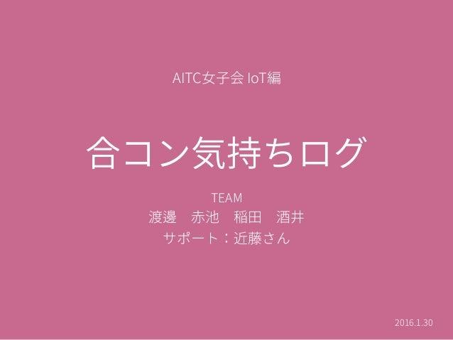 2016年1月30日 女子会『合コン気持ちログ』