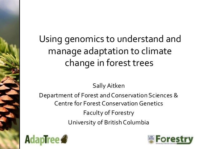 Use of genomics for understanding and improving adaptation