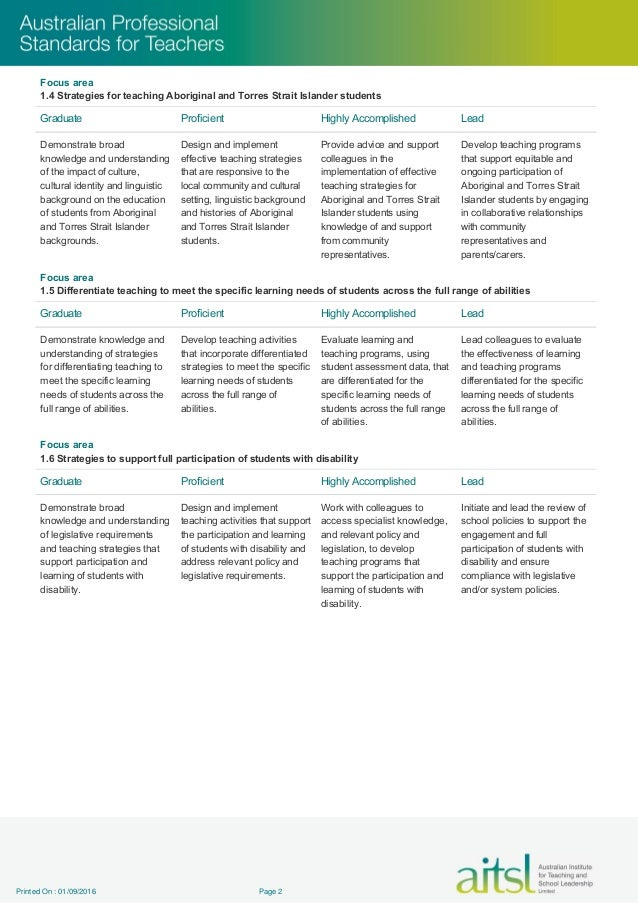 professional teaching standards for graduate teachers education essay A first challenge is to raise the status of teaching as a career choice, to attract  more  in these high-performing countries, places in teacher education  to  meet the year 3 national minimum standard in reading, and 30 per cent of  in  some way blame on teachers (not being in the top of the graduate pool).