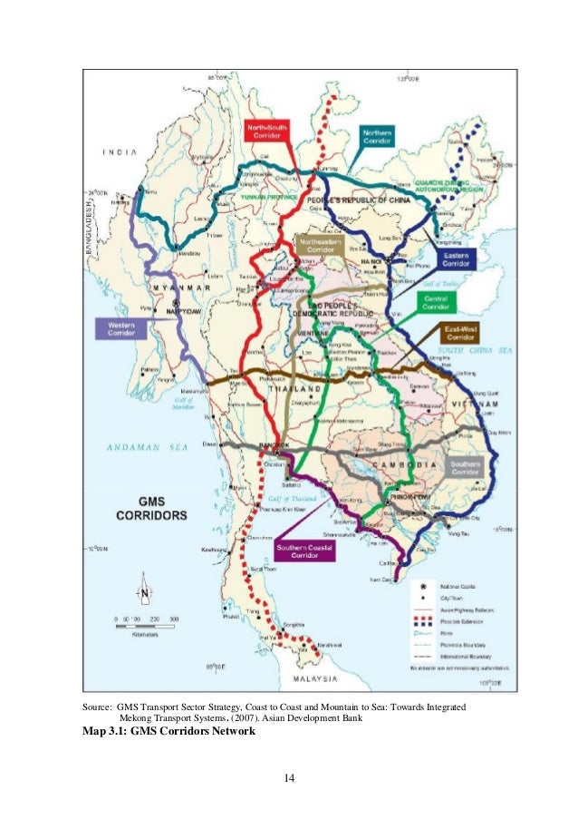 CrossBorder Trade And Commerce In Thailand Policy Implications For - Economic zones southeast asia map