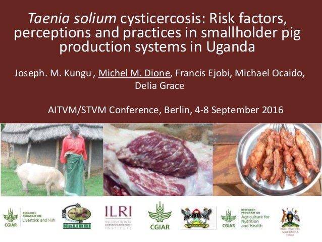 Taenia solium cysticercosis: Risk factors, perceptions and practices in smallholder pig production systems in Uganda Josep...