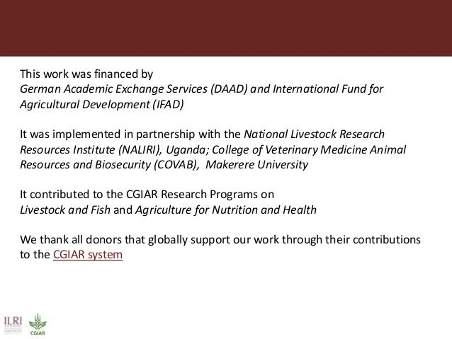 This work was financed by German Academic Exchange Services (DAAD) and International Fund for Agricultural Development (IF...