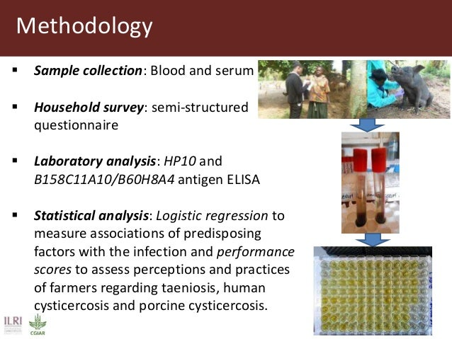 Methodology  Sample collection: Blood and serum  Household survey: semi-structured questionnaire  Laboratory analysis: ...