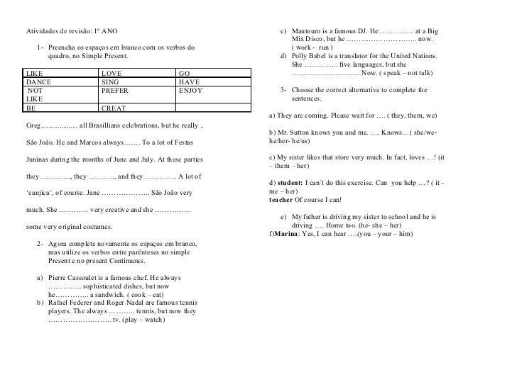 Amado Atividades de revisão HT13