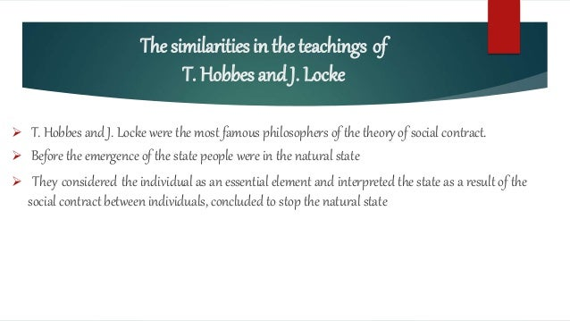 the difference between john locke and thomas hobbes