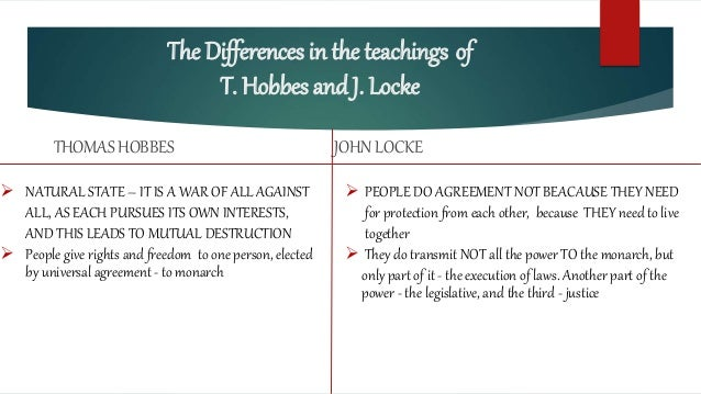 compare and contrast hobbes and locke essay Compare and contrast log in × scroll to top home a comparison of the similarities and differences between the two social contract advocates in thomas hobbes and john locke pages 8 words 2,171 view full essay more essays like this.