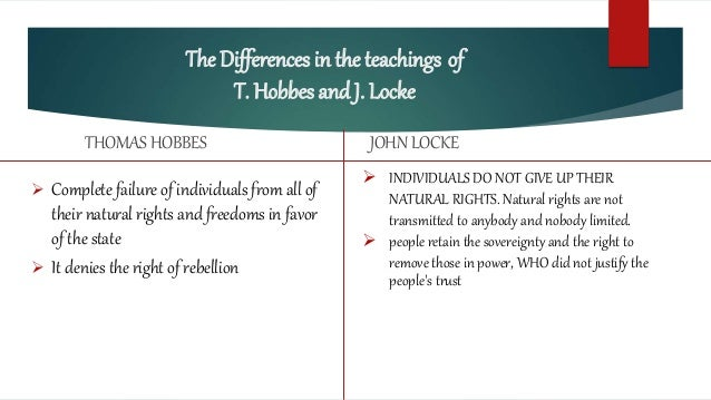 an argument of hobbes and locke about man This essay john locke and thomas hobbes and other 64,000+ term papers,  leviathan, hobbes proclaimed that while man does voluntarily commit some acts of goodness, .