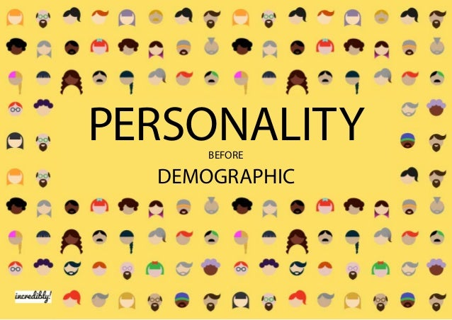 DEMOGRAPHIC PERSONALITYBEFORE
