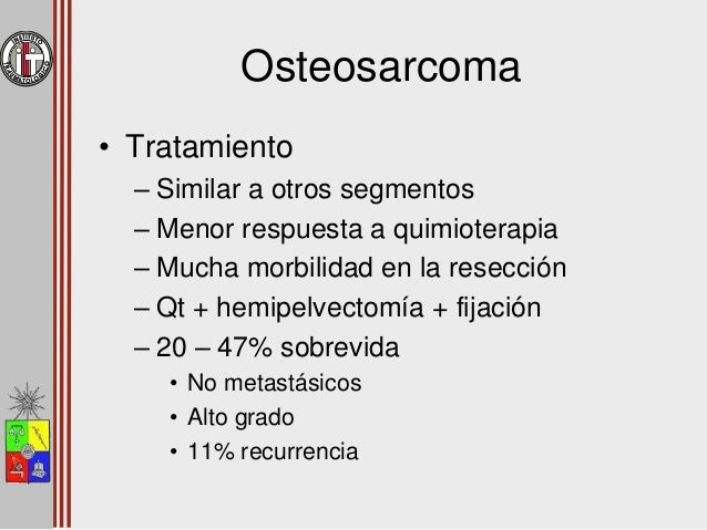 Tumores Malignos Primarios Condrosarcoma Osteosarcoma Sarcoma de Ewing Sarcoma Sinovial