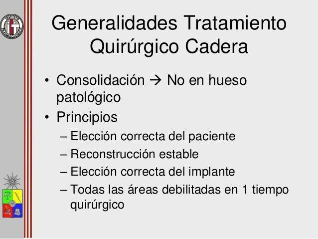 Instituto Traumatológico • Estudio 1997 – 2002 • 61 pacientes 64 caderas • Diagnósticos – Fractura en hueso patológico – F...