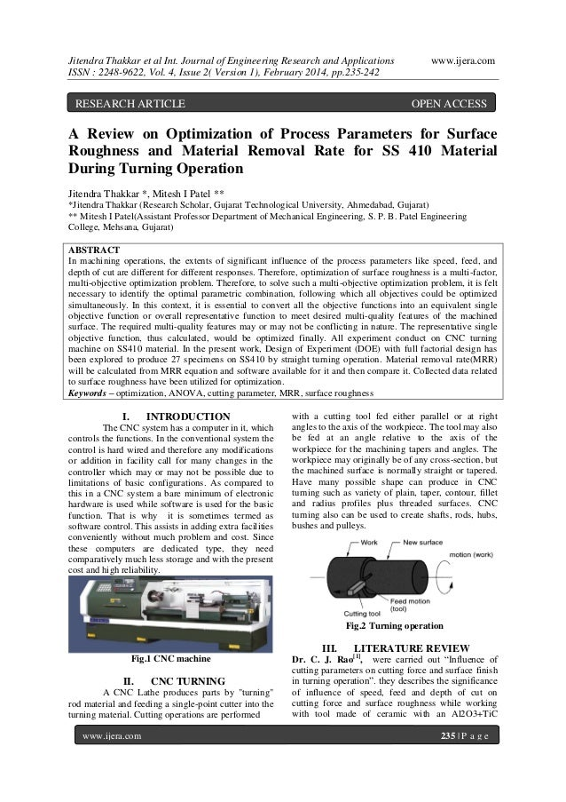 Jitendra Thakkar et al Int. Journal of Engineering Research and Applications ISSN : 2248-9622, Vol. 4, Issue 2( Version 1)...