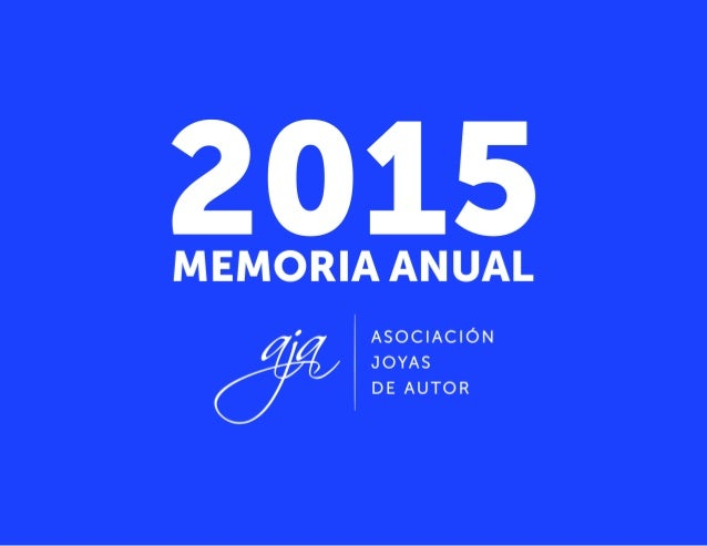 AJA   MEMORIA DE ACTIVIDADES 2015 1