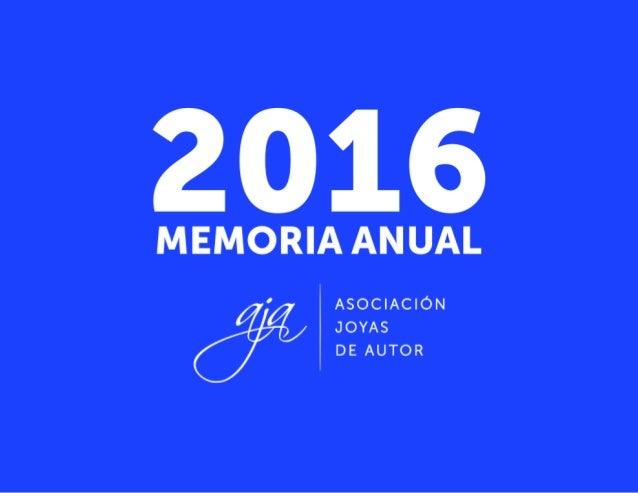 AJA | MEMORIA DE ACTIVIDADES 2016 1