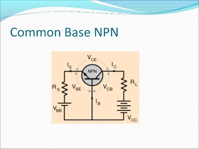 Transistor biasing   The base-emitter (BE) junction is forward biased  The base-collector (BC) junction is reverse biase...