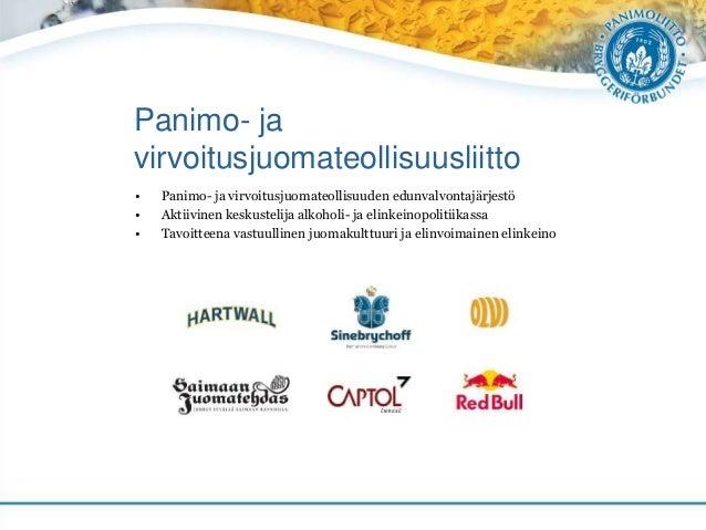 Panimo- ja virvoitusjuomateollisuusliitto • Panimo- ja virvoitusjuomateollisuuden edunvalvontajärjestö • Aktiivinen keskus...