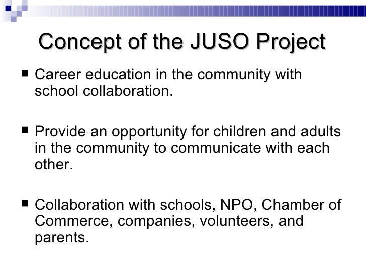 <ul><li>Career education in the community with school collaboration. </li></ul><ul><li>Provide an opportunity for children...