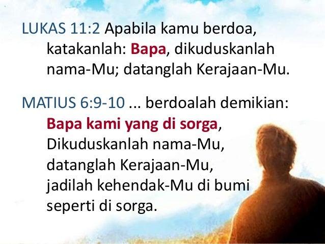 """ROMA 8:15-16 ... kamu telah menerima Roh yang menjadikan kamu anak Allah. Oleh Roh itu kita berseru: """"ya Abba, ya Bapa! Ro..."""