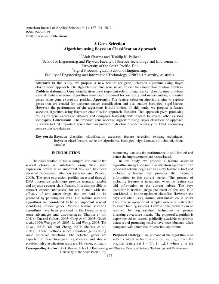 American Journal of Applied Sciences 9 (1): 127-131, 2012ISSN 1546-9239© 2012 Science Publications                        ...