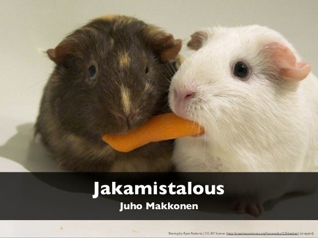 Jakamistalous Sharing by Ryan Roberts | CC-BY license (http://creativecommons.org/licenses/by/2.0/deed.en) (cropped) Juho ...