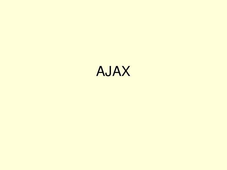 AJAX<br />