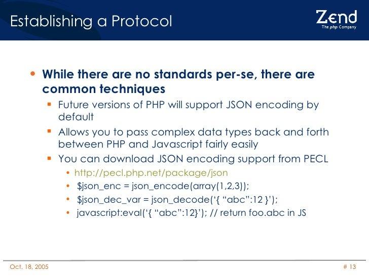 Establishing a Protocol <ul><li>While there are no standards per-se, there are common techniques </li></ul><ul><ul><li>Fut...