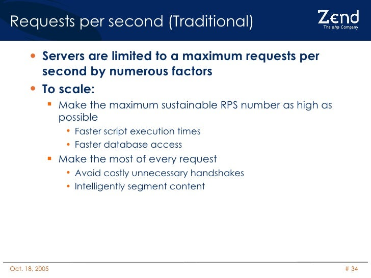 Requests per second (Traditional) <ul><li>Servers are limited to a maximum requests per second by numerous factors </li></...