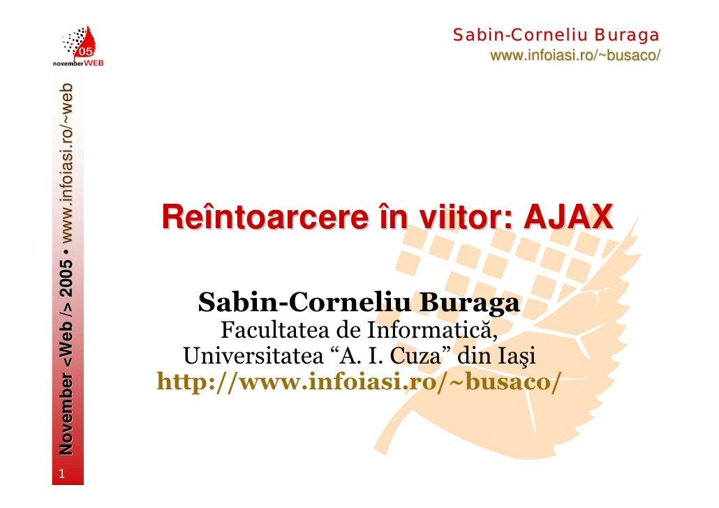 Sabin-Corneliu Buraga                                                                              www.infoiasi.ro/~busaco...